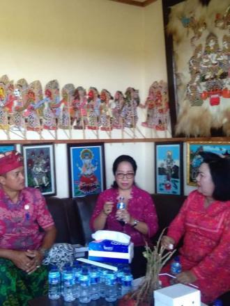 Kunjungan Ibu Guberbur Bali bersama Ibu Bupati Bul